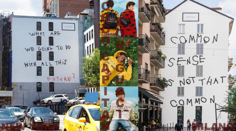"""Gucci'den Milano ve New York için """"Art Wall"""" projesi"""