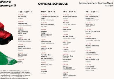 Mercedes-Benz Fashion Week Istanbul Spring Summer 2019 Official Schedule